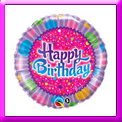 18in Birthday Sprinkles & Sparkles Balloon