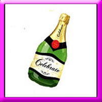 "39"" Champagne Bottle SuperShape Balloon"