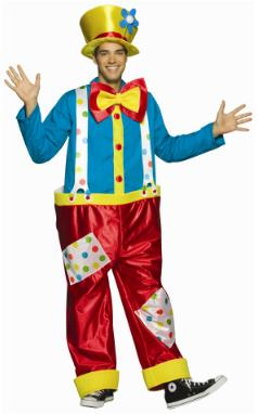 CLOWN ADULT MALE HALLOWEEN COSTUME