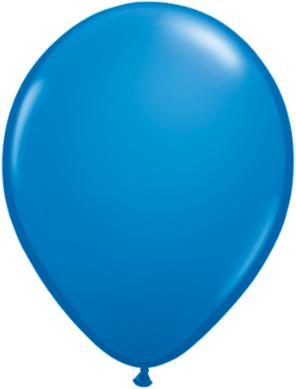 "11"" Dark Blue Latex Balloon"