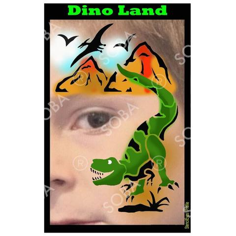 Dino Land - Profile Stencil