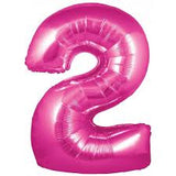 Number Balloons - Pink 34""
