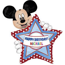 "30"" Mickey Birthday Foil Balloon Personalize"