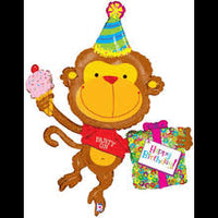 "49"" Birthday Monkey Balloon"