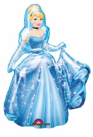 "38"" Cinderella Airwalker Balloon - Clearance"