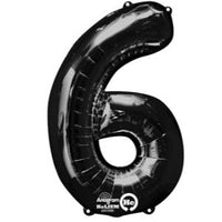 Number Balloons - Black 34 ""