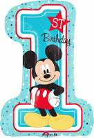 "MICKEY 1ST BIRTHDAY 28"" Balloon"