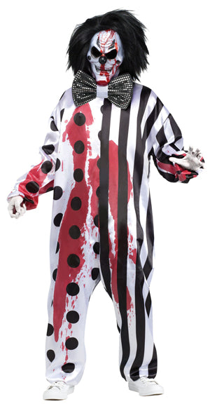 BLEEDING KILLER CLOWN HALLOWEEN COSTUME