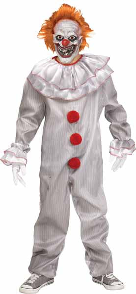 SCARY CLOWN HALLOWEEN COSTUME CHILD LARGE