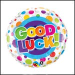 18in Good Luck Colorful Dots Foil  Balloon