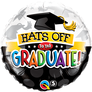"Hats Off To The Graduate 18"" foil Balloon"