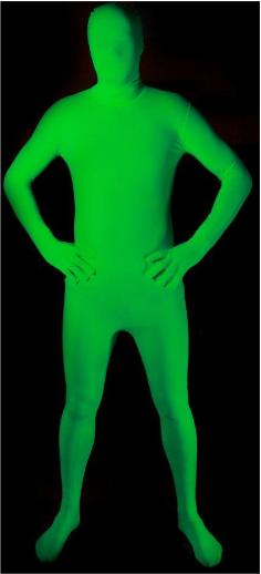 Glow Green Morphsuit Size Adult Large