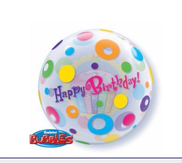 Bubble Balloon with Cupcakes and Dots
