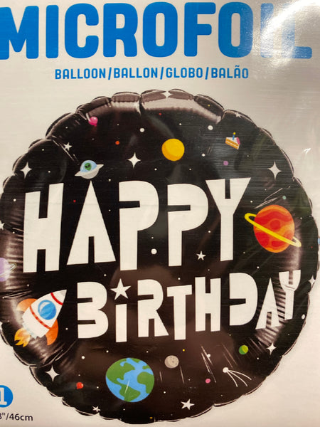 "18"" Happy Birthday Space Rocket Balloon"