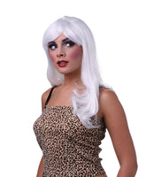 Women's sexy diva singer white hair costume