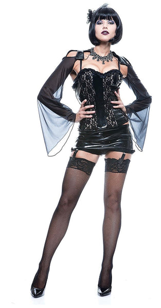 Paper magic women's French kiss midnight mistress costume adult small Halloween