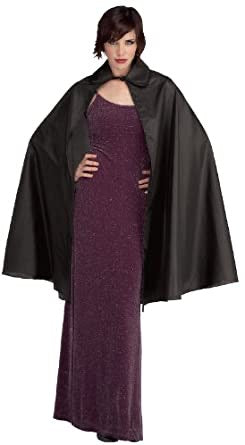 Rubies costume men's taffeta cape black standard adult