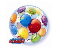 Aqua Bubble Balloon with balloon print