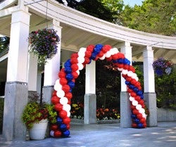 Spiral Balloon Arch priced per foot