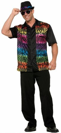 Men's Retro Halloween Costume Shirt Adult