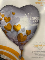 "18"" Happy Anniversary Heart Balloon"