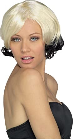 Rubies costume company sassy two-tone blonde black adult hair
