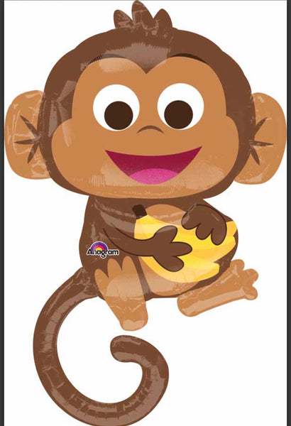 "36"" Foil Balloon Happy Monkey"