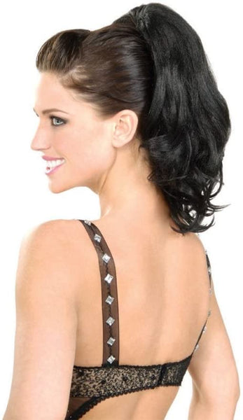 Brunette ponytail