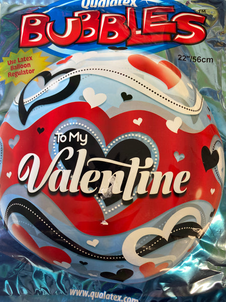 "22"" Bubble To My Valentine Balloon"