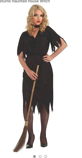 Rubies costume Haunted House witch black adult  Halloween costumes standard size