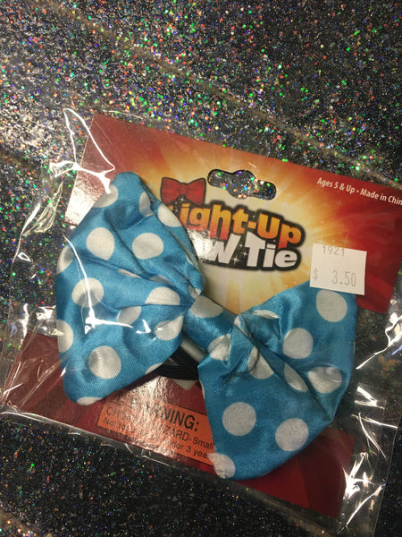 Light Up Bow Tie Assorted Colours