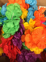 "15"" silk tropical flower leis"