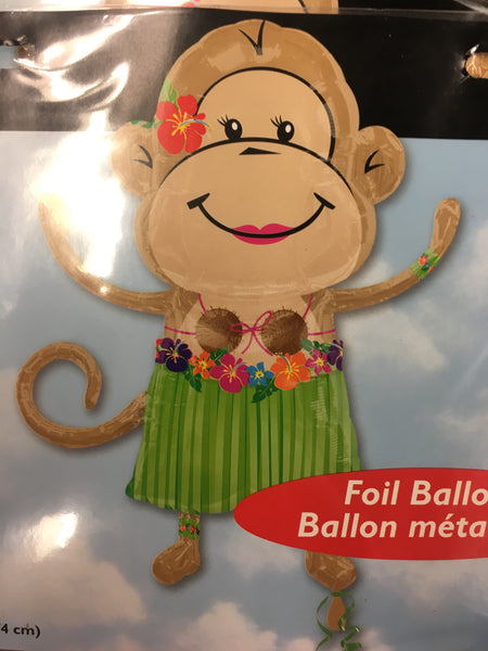 Luau Monkey Jumbo Foil Balloon