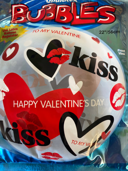 "22"" Bubble To My Valentine Happy Valentines Day Balloon"