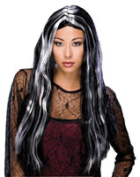 Rubies costume Long Straight witch hair black and gray
