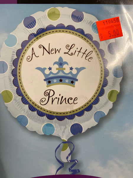 "18"" New Little Prince Baby Balloon"