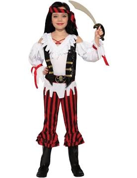 forum novelties pirate lass costume child medium