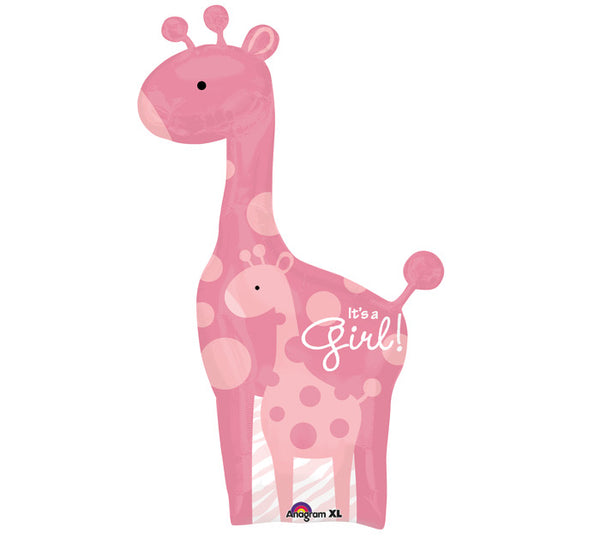 Its a Girl! Baby Giraffe Balloon