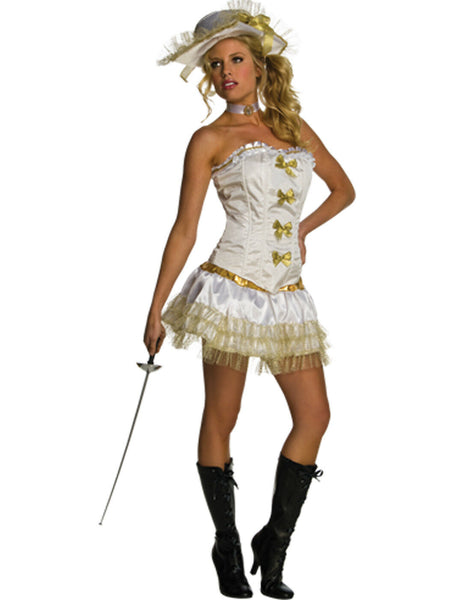 Secret wishes costume women's musketeer Halloween size extra small