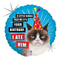 "18"" Birthday Balloon Grumpy Cat"