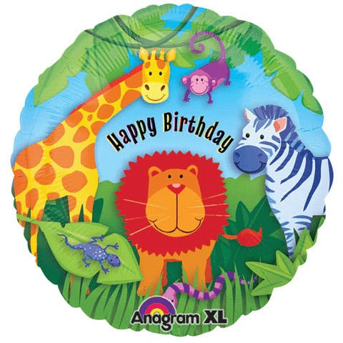 "18"" Happy Birthday zoo Balloon"