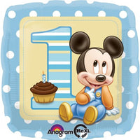 "18"" First Birthday Mickey Mouse Balloon"