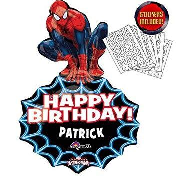 Spiderman Super Shape Balloon - Personalize