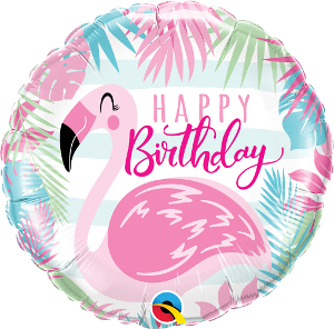 Pink Flamingo Birthday Foil Balloon 18""