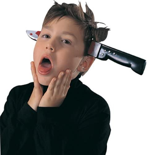 Knife Through Head Prop Halloween Costume Accessory