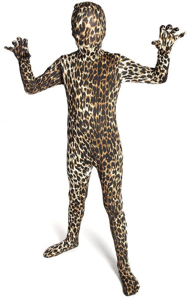 Morphsuits Kids Animal Planet Halloween Costume Leopard Size Kids Large 4'-4'6""
