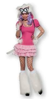 Rubies Costume Co Mee Oow TuTu Dress Pink / White Halloween Costume Small