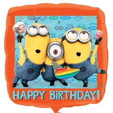 "18"" Happy Birthday Minion Despicable Me Foil Balloon"