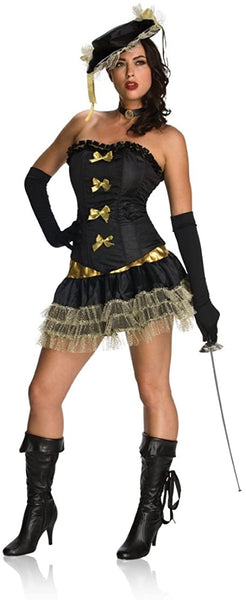 Secret Wishes Rubie's Costume Naughty Musketeer  Halloween Costume Adult