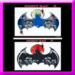 Night Bat Stencil Eyes - Adult